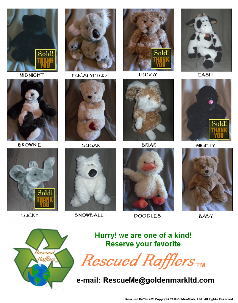 Current Rescued Raffler Selections